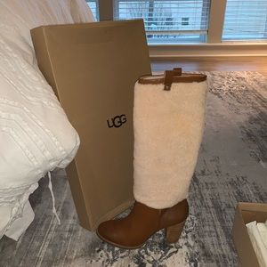 Ugg Ava Exposed Fur Boots SZ 10